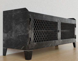 3D model French railroad media console