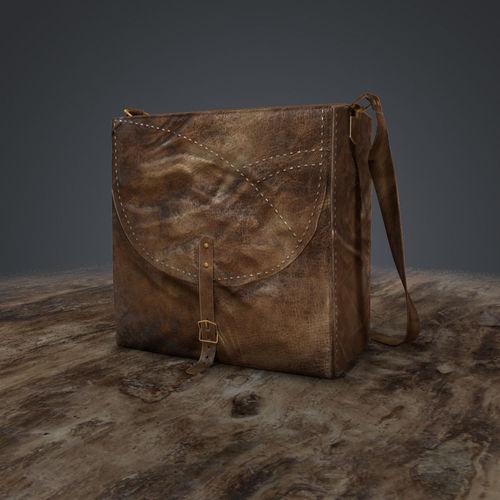 leather bag  3d model low-poly obj mtl fbx ma mb tga 1