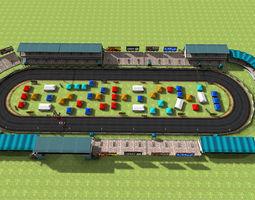 3D asset Car Racing track