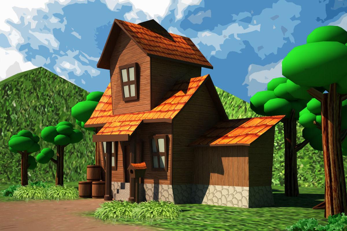 3D asset Cartoon House Low poly CGTrader