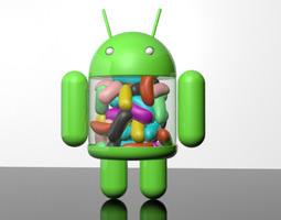 Android Jellybean Mascot 2 3D Model