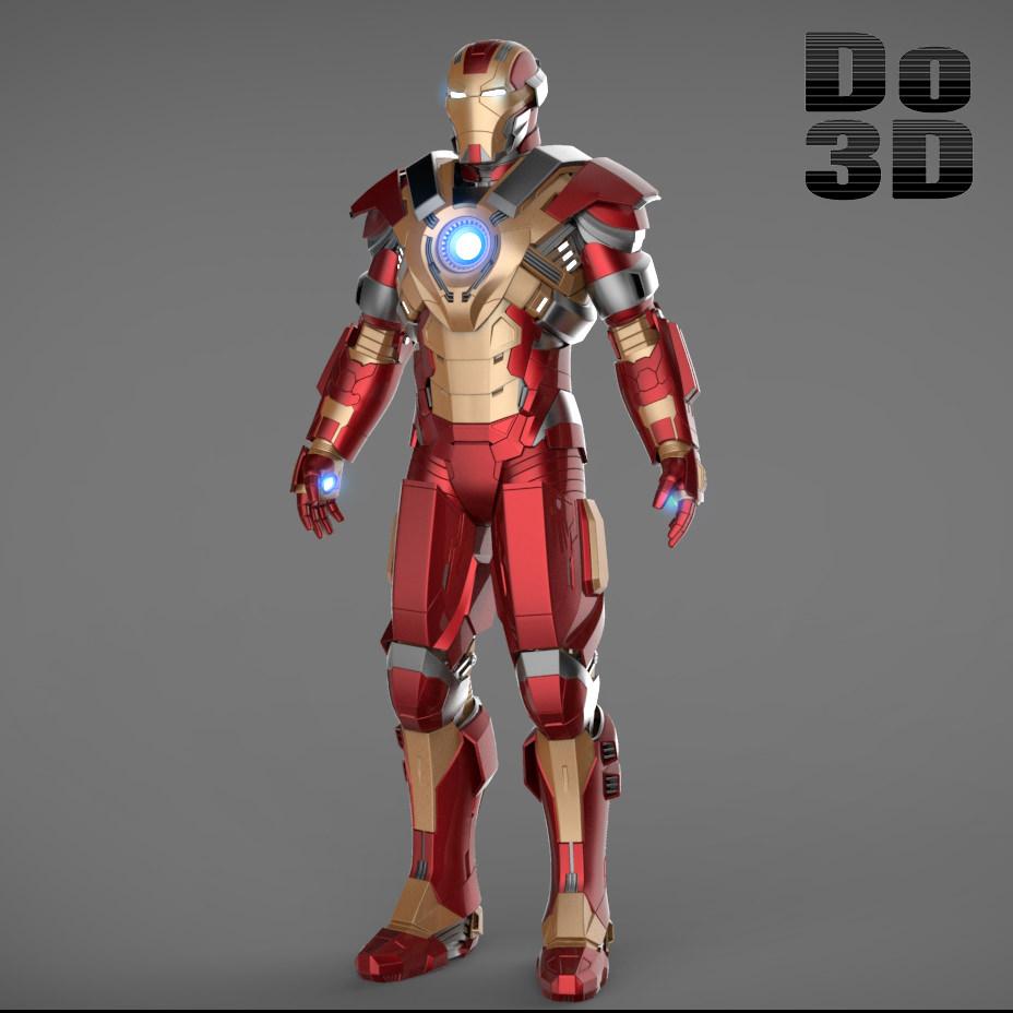 Iron Man 3 Suits - Mark 42 Tony Stark Mark... 3D Model ...