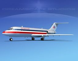 Douglas DC-9-20 American Airlines 2 3D model