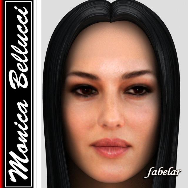 3d Model Monica Bellucci Hair Cgtrader