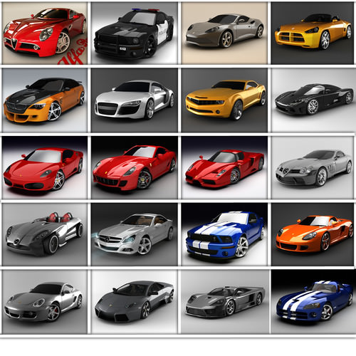 Dream Cars Collection3D model