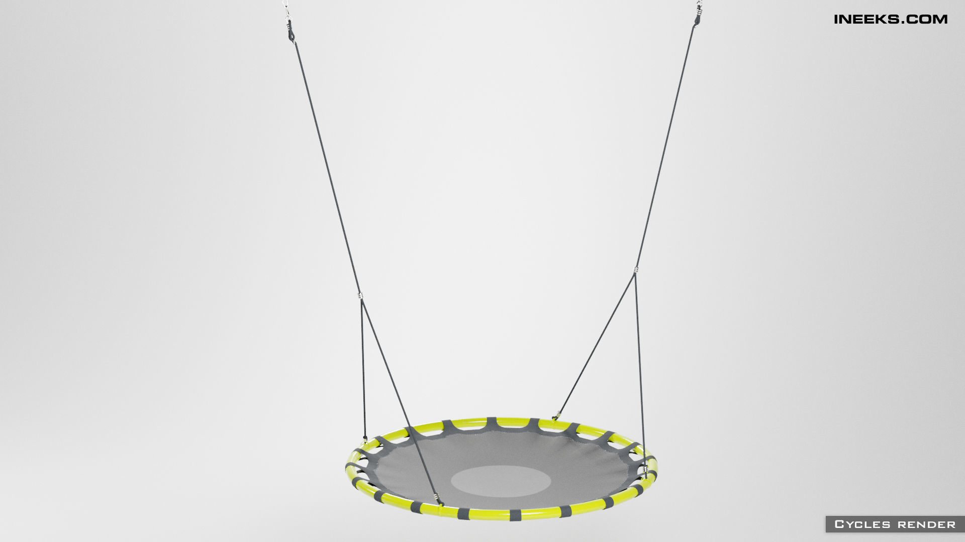 Swings nest seat with hanging ropes