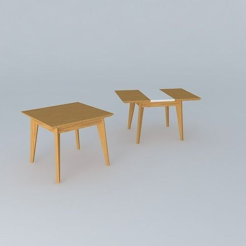 Dining table 3d wooden tableware cgtrader for New model wooden dining table