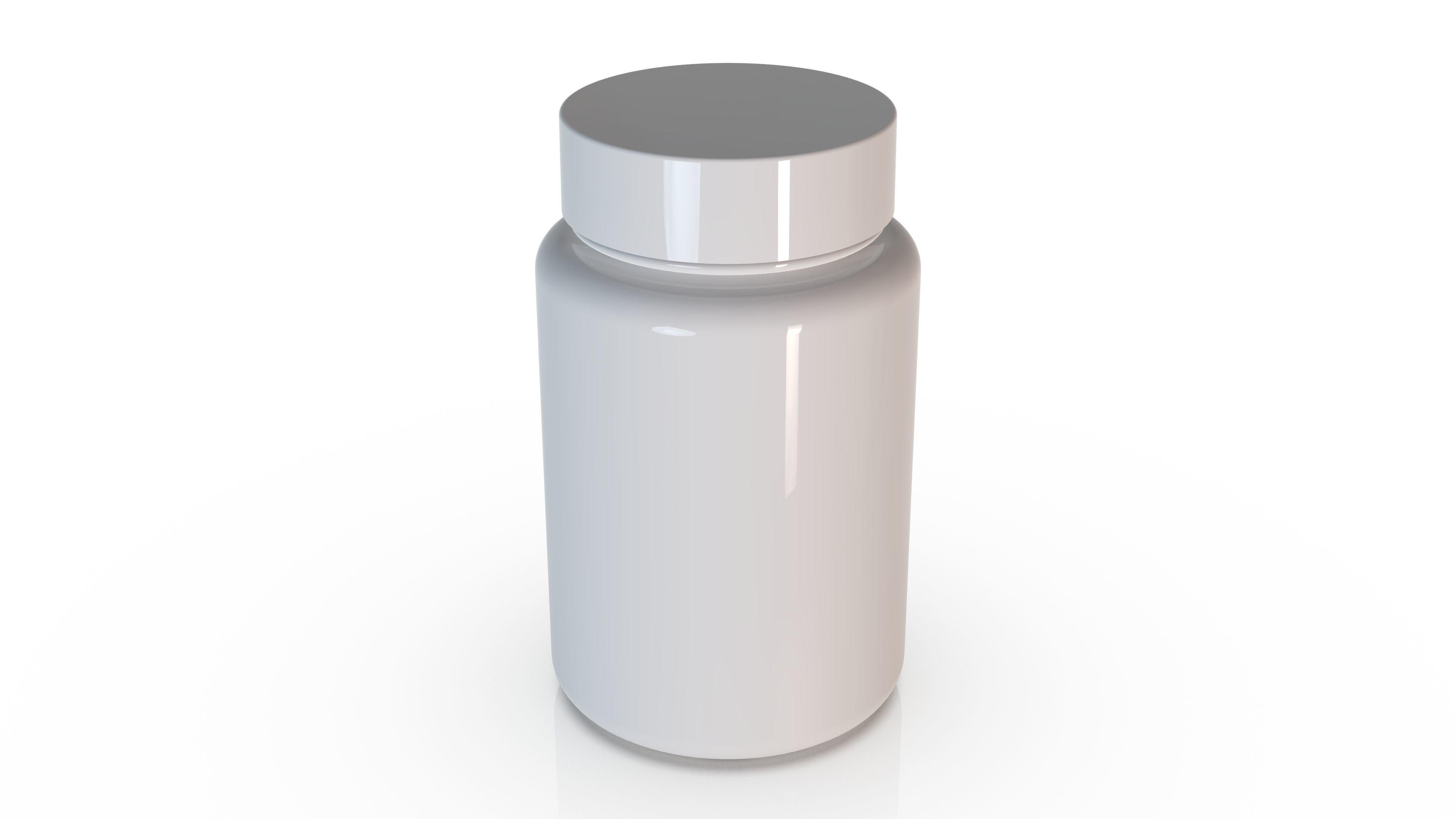 Medical-Pharmacy jar 90 ml - for Tablets - Pill - Film-coated
