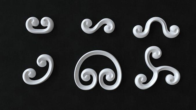 Decorative Swirls or Scrolls Collection R2TA