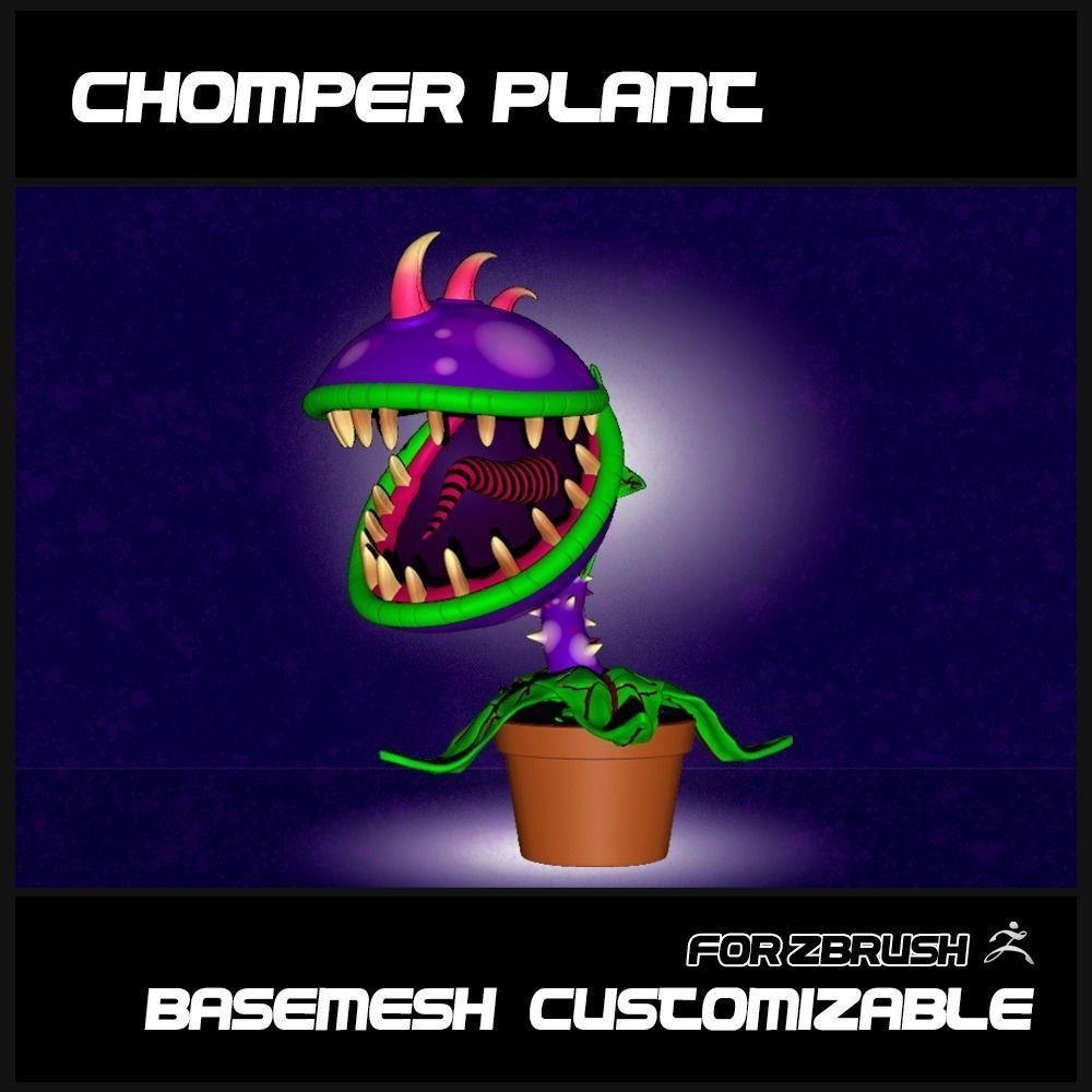 CHOMPER PLANT - BASEMESH CUSTOMIZABLE