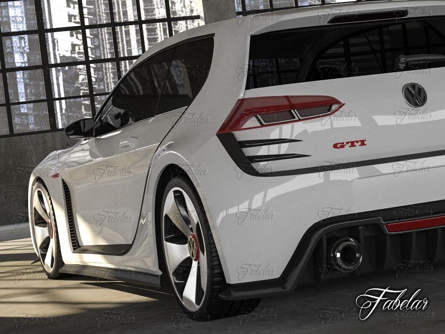 Volkswagen design vision gti and garage 3d model rigged for Garage volkswagen marennes 17