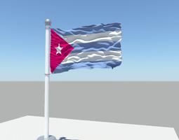3D Cuba flag