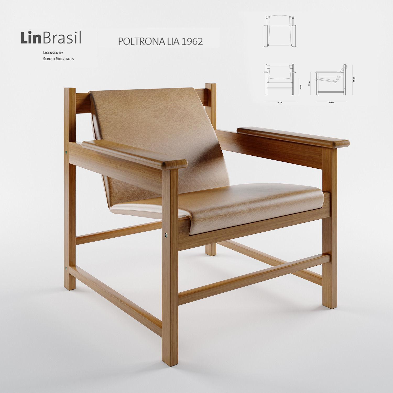 Poltrona Lia By Sergio Rodrigues 3d Model Max Obj Mtl Mat 1