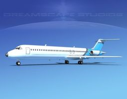 3D Douglas DC-9-40 Executive 1