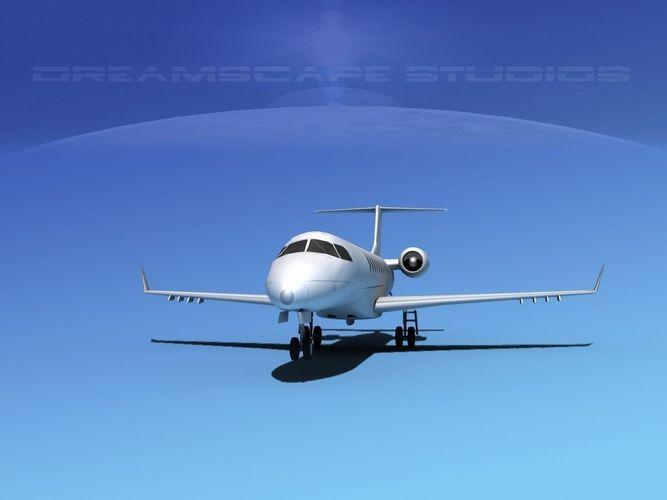 embraer e-135 regional jet lp ss 3d model low-poly max obj mtl 3ds fbx lwo lw lws dxf 1
