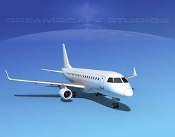 3D model Embraer E-170 LP SS