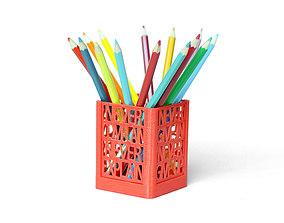 3D print model Never Surrender Desk Organizer