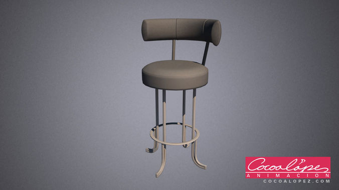 bar stool 3d model max 1