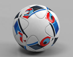 euro 2016 ball beau jeu official uefa 3d model max obj
