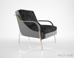 3D model Holly Hunt Harlow Lounge Chair