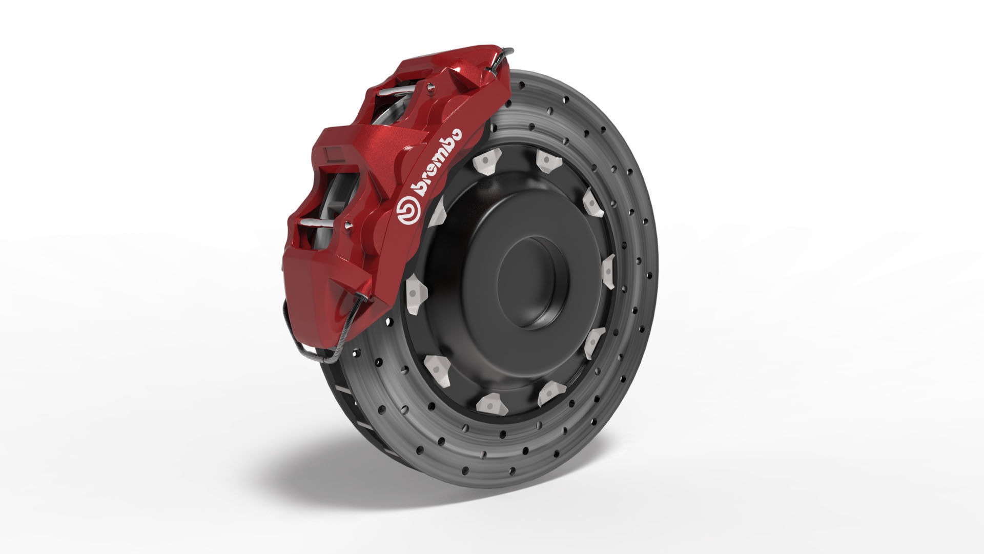 Brembo Brake Pads >> Brembo Caliper 3D Model Game ready .max - CGTrader.com