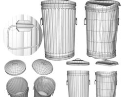 Garbage Cans fbx and Object 3D model