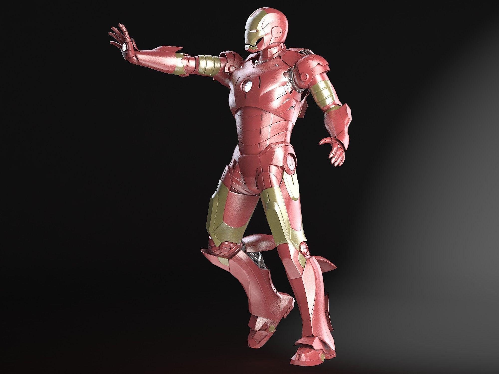 3c6f3a29d63 Iron Man Tony Stark Rigged | 3D model