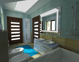 Bathroom Italy ceramic 3D