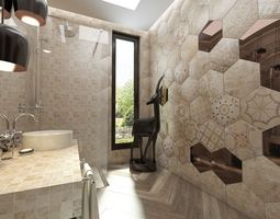 bathroom italian ceramic tiles 3d model