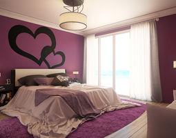 Romantic Bedroom - Updated 3D Model