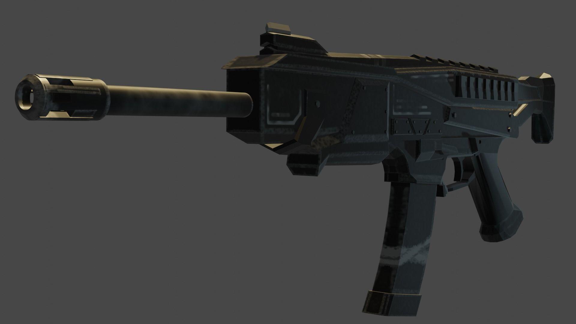 3D asset Futuristic Sub-Machine gun | CGTrader