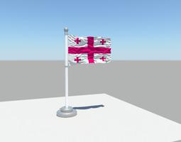 3D model Georgia flag