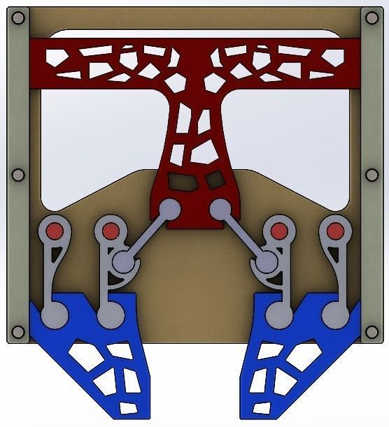 parallel gripping mechanism-4 bar-2 claws