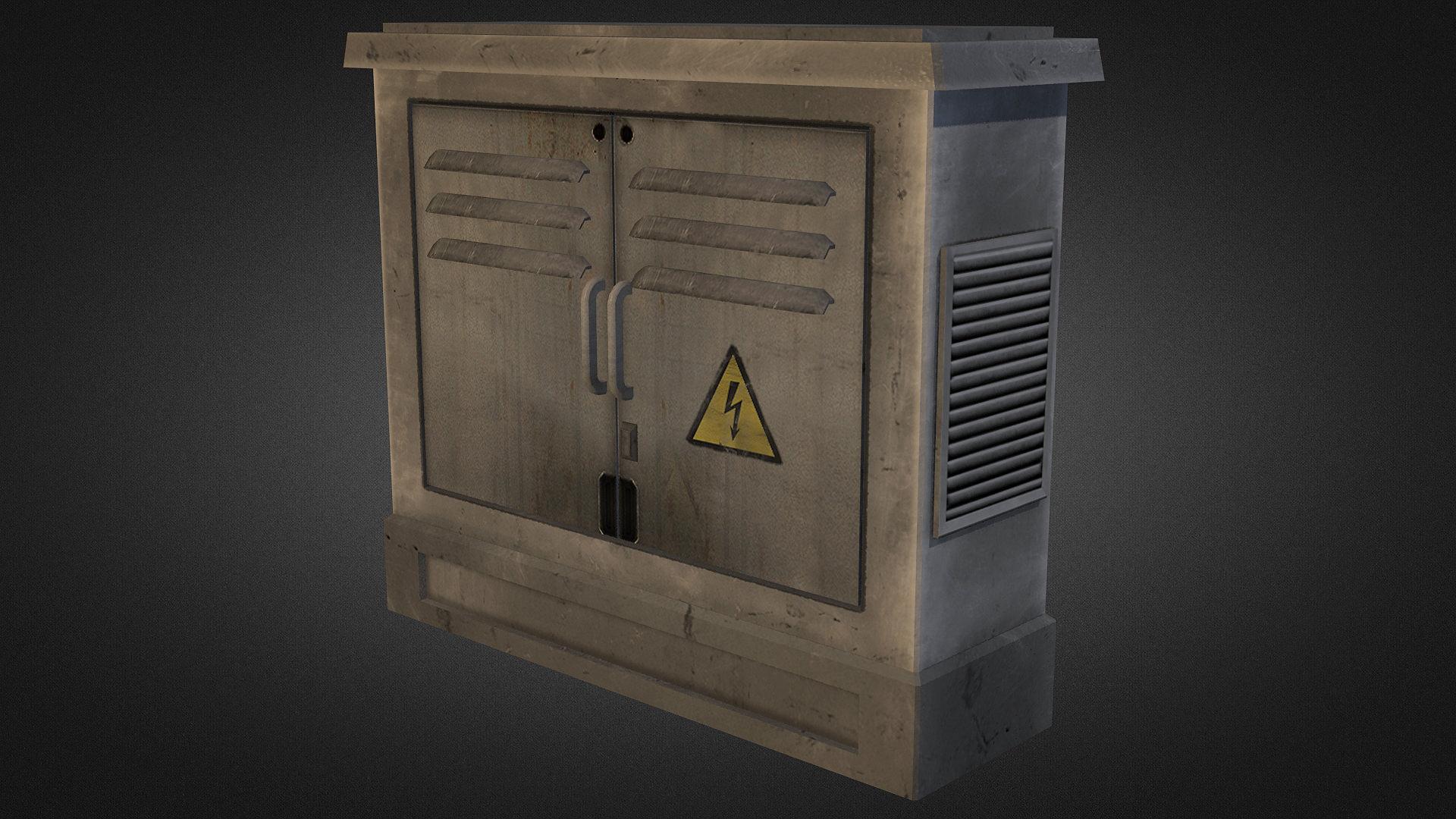3d model electric fuse box 02 vr   ar   low poly max obj Car Fuse Box Breaker Box