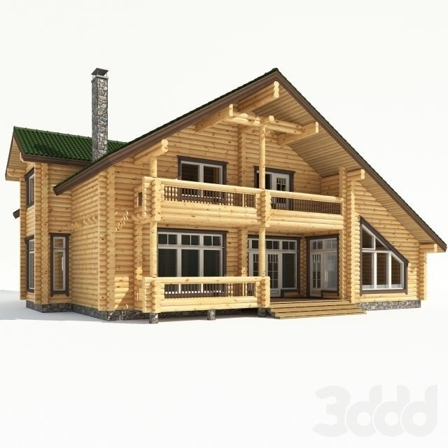 Cottage Car Sales >> log-cabin Wood house 3D model | CGTrader