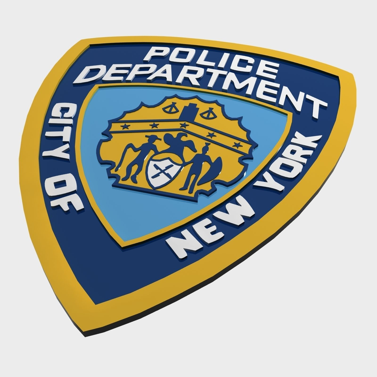 nypd police department logo 3d asset cgtrader rh cgtrader com nypd logo vector nypd logo meaning