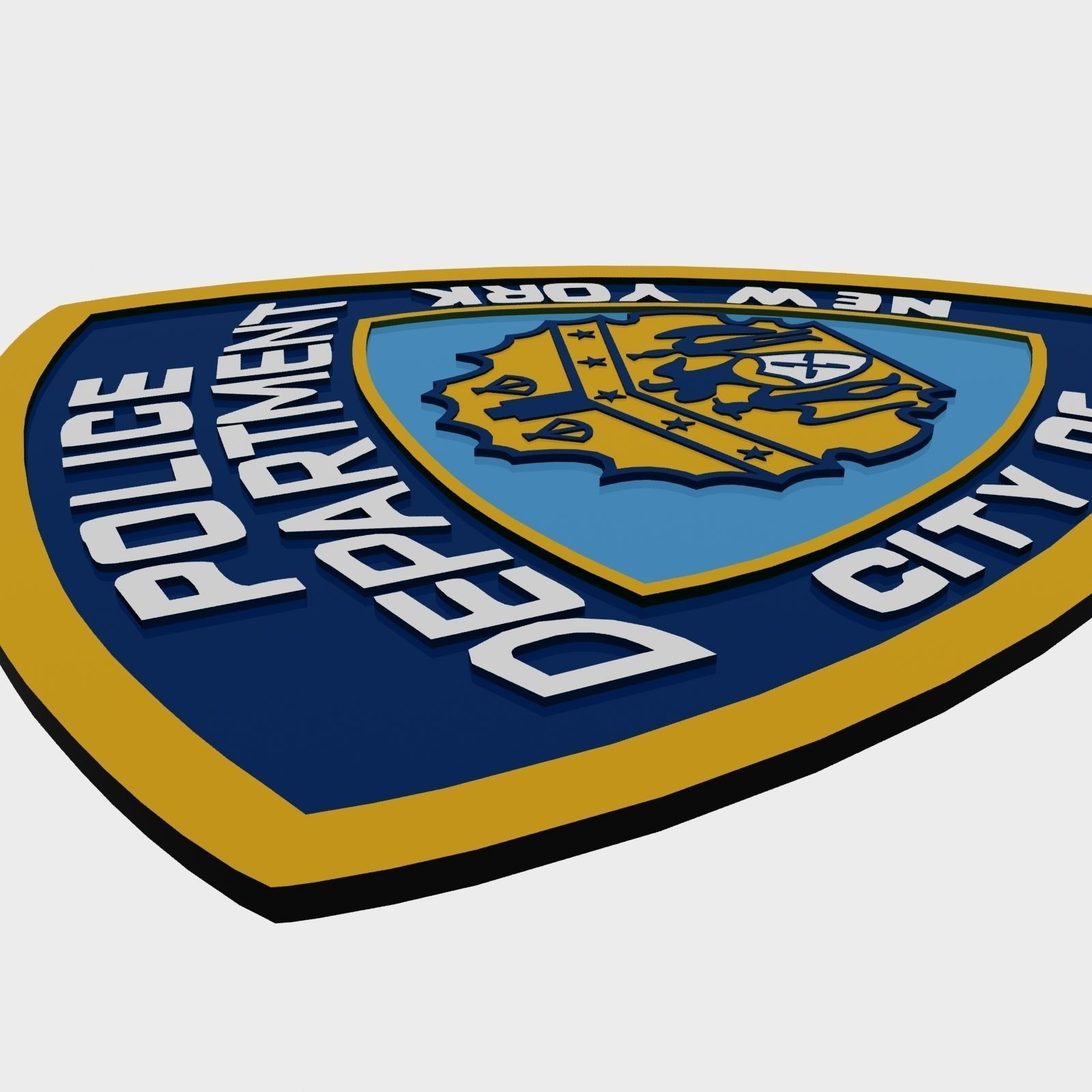 3D Model NYPD Police Department Logo VR / AR / Low-poly