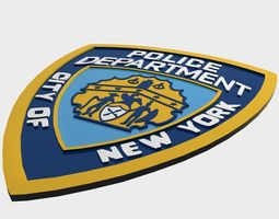 NYPD Police Department logo 3D Model