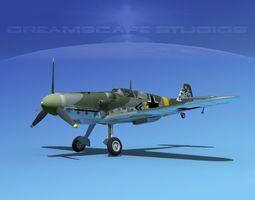 messerschmitt bf-109 v05 3d model rigged max obj 3ds lwo lw lws dxf stl