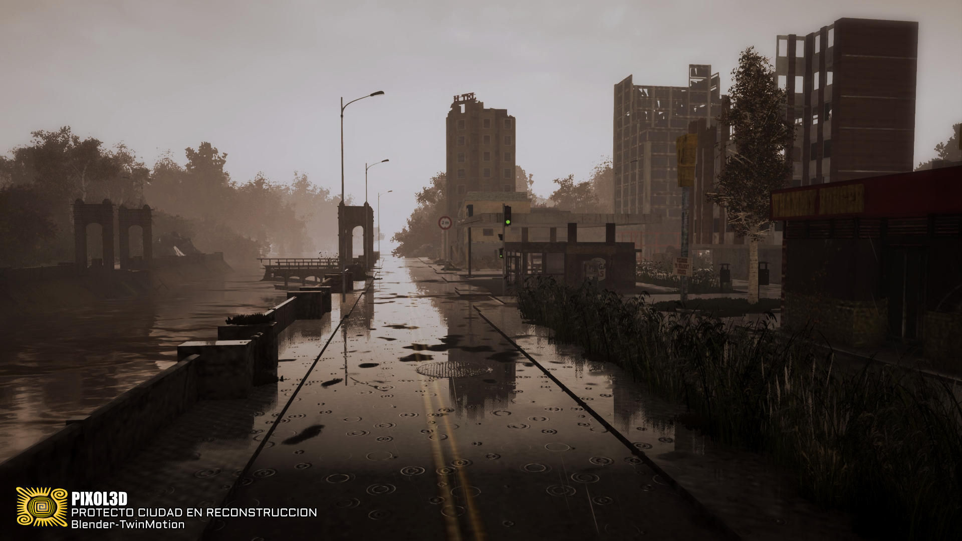 Destroyed City 3d Asset Cgtrader