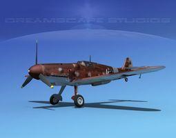 messerschmitt bf-109 v09 3d model rigged max obj 3ds lwo lw lws dxf stl