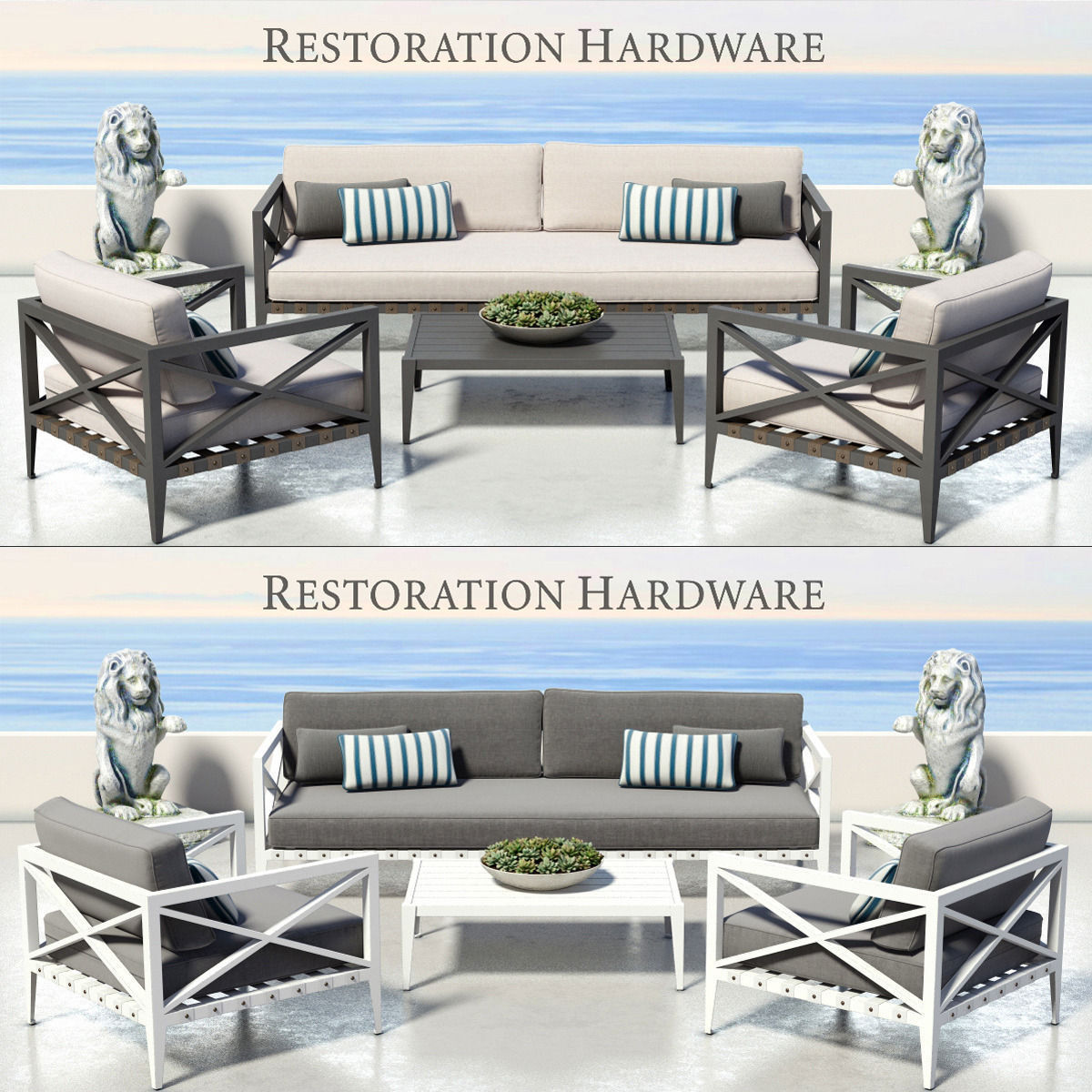 Restoration hardware mustique collection 3d model max for Restoration hardware furniture quality
