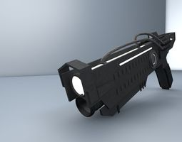 VR / AR ready futuristic gun 3d model