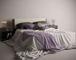 Romantic Bed Set 3D Model