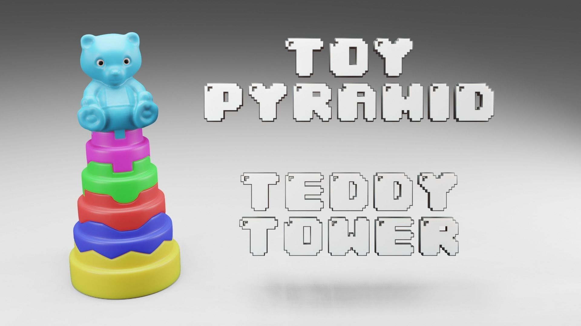 Toy Pyramid - Teddy  Tower - Playset of 6 Elements