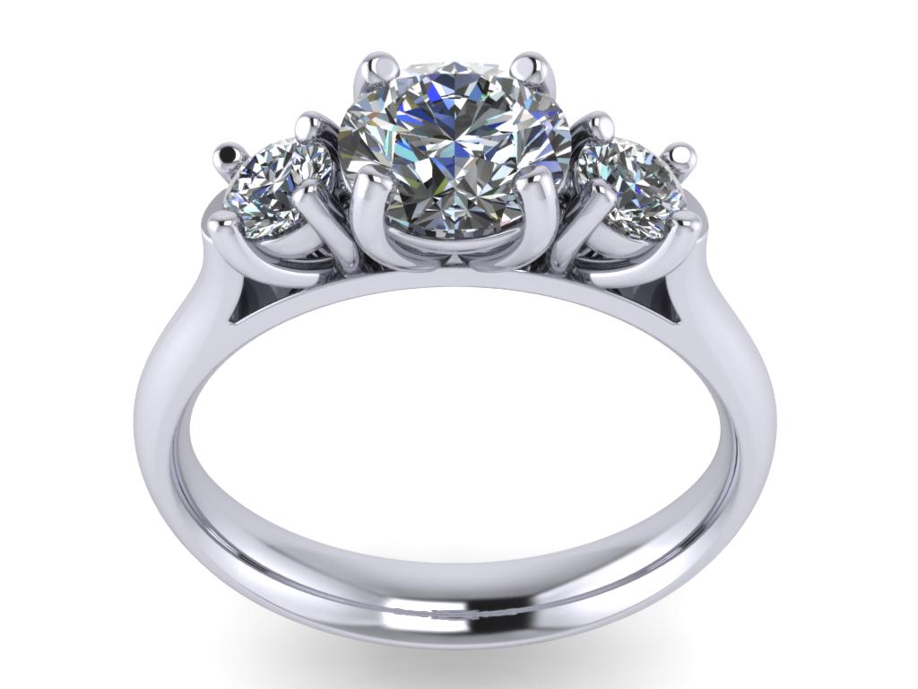Jewelry Triology Ring B 3d Model 3d Printable Stl