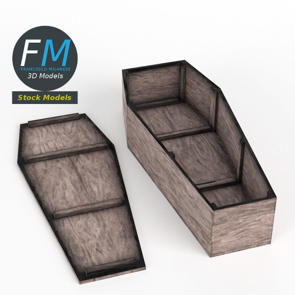 Rustic coffin