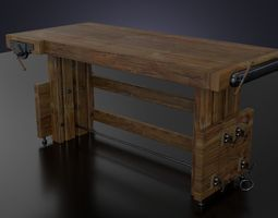 3d model the workbench table