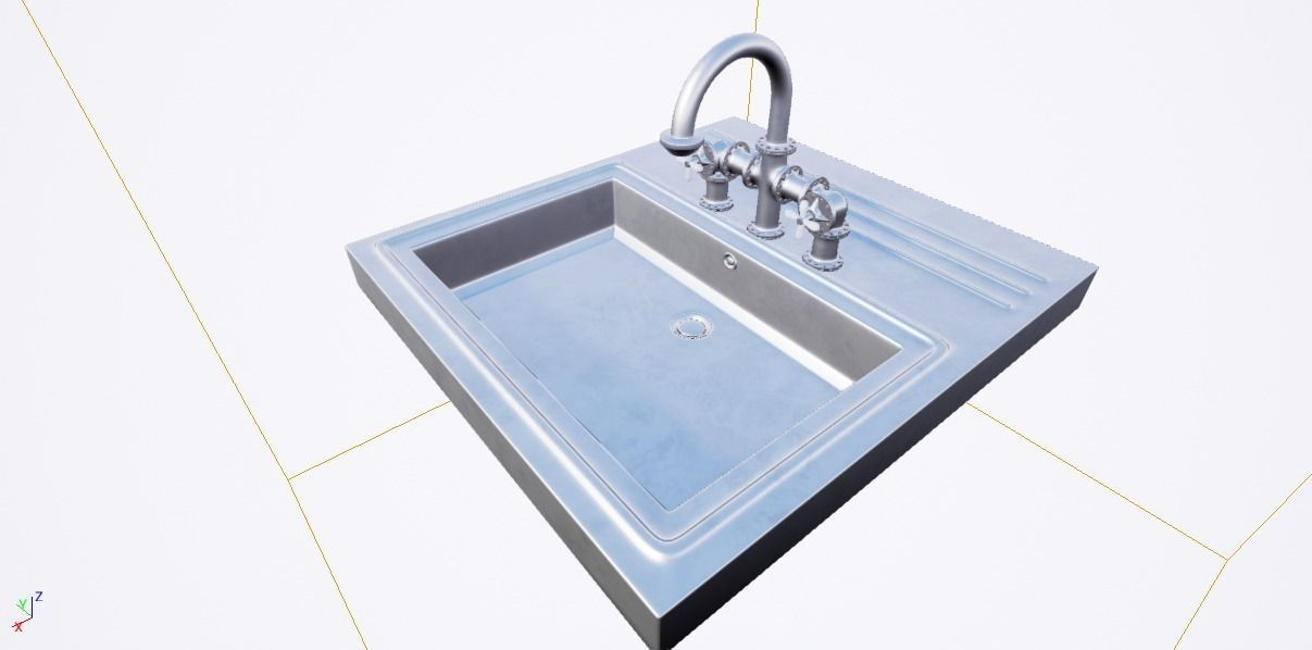 The washbasin faucet 3D model   CGTrader