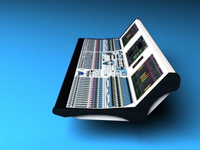 audio mixing board lawo mc2 56 3d model max. Black Bedroom Furniture Sets. Home Design Ideas